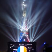 Paris : France - Islande dans la Fan Zone de la Tour EIffel