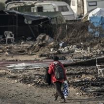 Calais : Démolition du camp de la Jungle