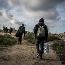 Calais : Démolition du camp de la Jungle