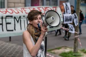 Paris - Nouveau rassemblement anti-loi Travail -001
