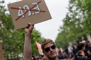 Paris - Nouveau rassemblement anti-loi Travail -002