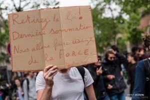 Paris - Nouveau rassemblement anti-loi Travail -003