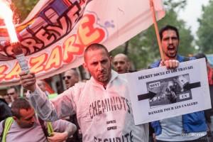 Paris - Nouveau rassemblement anti-loi Travail -004