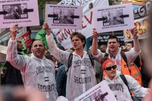 Paris - Nouveau rassemblement anti-loi Travail -006