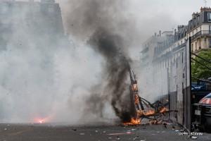 Paris - Nouveau rassemblement anti-loi Travail -009-1