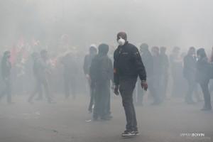 Paris - Nouveau rassemblement anti-loi Travail -014