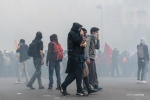 Paris - Nouveau rassemblement anti-loi Travail -015