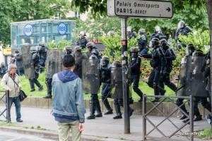 Paris - Nouveau rassemblement anti-loi Travail -017