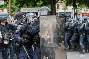 Paris - Nouveau rassemblement anti-loi Travail -021