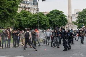 Paris - Nouveau rassemblement anti-loi Travail -023