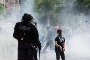 Paris - Nouveau rassemblement anti-loi Travail -024