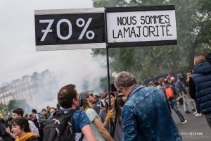 Paris - Nouveau rassemblement anti-loi Travail -029