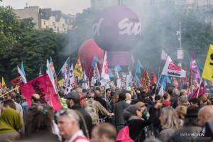 Paris - Nouveau rassemblement anti-loi Travail -030