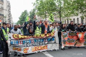 Paris - Manifestation des cheminots-015