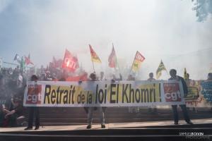 Paris - Manifestation interprofessionnelle contre la loi travail-012