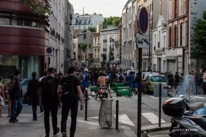 Paris - Manifestation sauvage dans les rues de Belleville-012