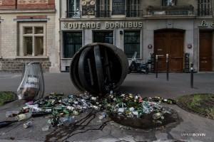 Paris - Manifestation sauvage dans les rues de Belleville-015