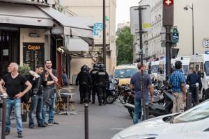 Paris - Manifestation sauvage dans les rues de Belleville-017